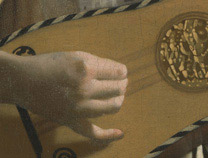 Johannes Vermeer, Detail from 'The Guitar Player', about 1672 On loan from English Heritage, The Iveagh Bequest (Kenwood)