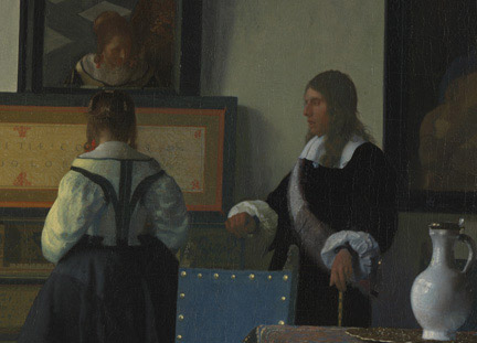 Detail from Johannes Vermeer, 'The Music Lesson', about 1662–3. Royal Collection Trust / © Her Majesty Queen Elizabeth II 2013