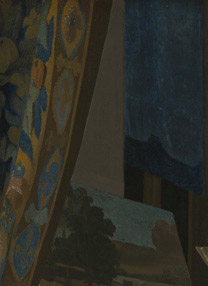 Detail from Johannes Vermeer, 'A Young Woman seated at a Virginal', about 1670-2