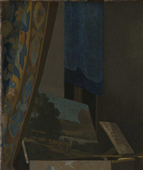 Visible light detail from Johannes Vermeer, 'A Young Woman seated at a Virginal', about 1670-2