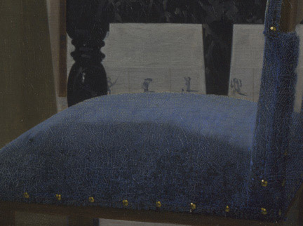 Detail from Johannes Vermeer, 'A Young Woman standing at a Virginal', about 1670-2