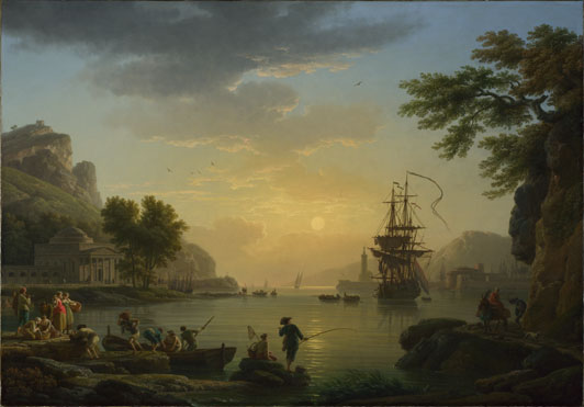Claude-Joseph Vernet: 'A Landscape at Sunset'