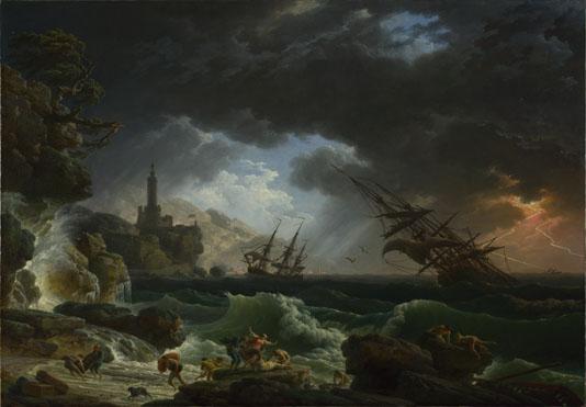 Claude-Joseph Vernet: 'A Shipwreck in Stormy Seas'