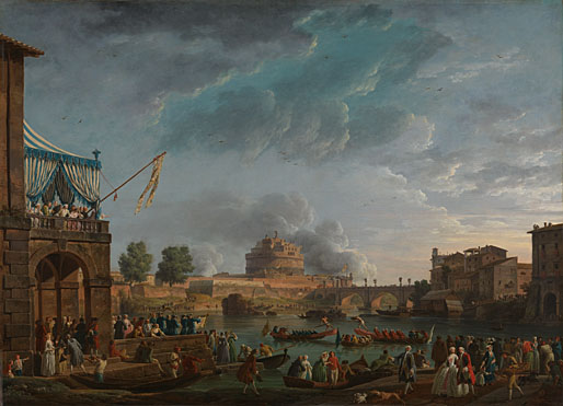 Claude-Joseph Vernet: 'A Sporting Contest on the Tiber at Rome'