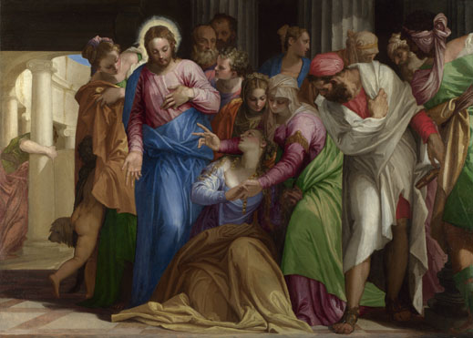 Paolo Veronese: 'Christ addressing a Kneeling Woman'