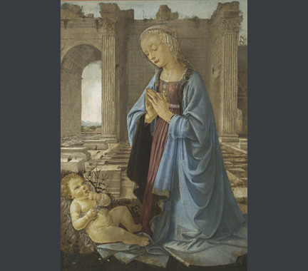 Andrea del Verrocchio: 'The Virgin adoring the Infant Christ ('The Ruskin Madonna').