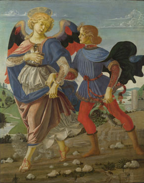 Workshop of Andrea del Verrocchio, Tobias and the Angel