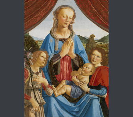 Andrea del Verrocchio and assistant (Lorenzo di Credi), 'The Virgin and Child with Two Angels', about 1476–8