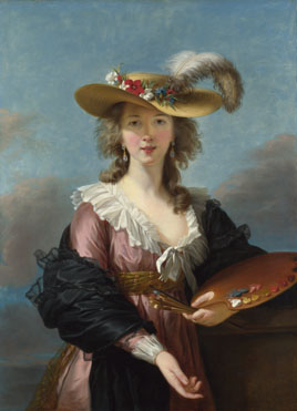 Elizabeth Louise Vigée Le Brun: 'Self Portrait in a Straw Hat'