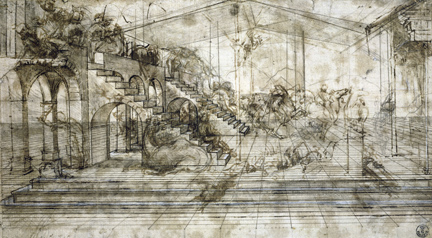 Leonardo da Vinci: 'Study for the Setting of the