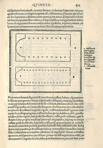 Vitruvius: 'Plan of a Basilica'.