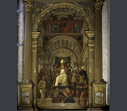 Vivarini and Basaiti: 'Altarpiece of St Ambrose.'