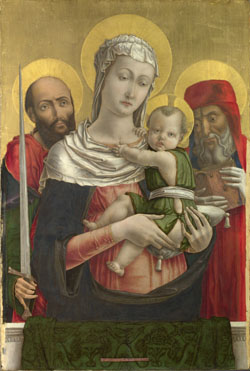 Bartolomeo Vivarini: 'The Virgin and Child with Saints Paul and Jerome'