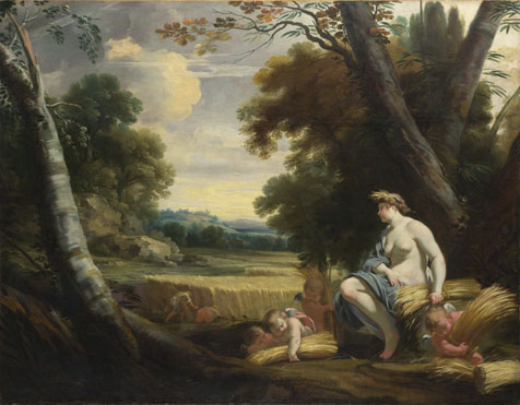 Simon Vouet and studio: 'Ceres and Harvesting Cupids'