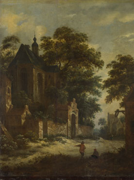 Roelof van Vries: 'A View of a Village'