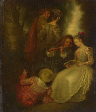 After Jean-Antoine Watteau: 'Perfect Harmony'