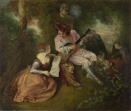 Jean-Antoine Watteau: 'The Scale of Love'