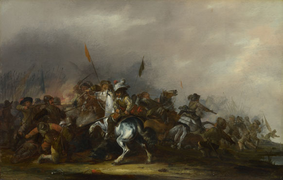 Jacob Weier: 'Cavalry attacked by Infantry'