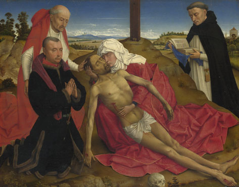 Attributed to the Workshop of Rogier van der Weyden: 'Pietà'