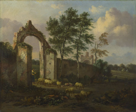Jan Wijnants: 'A Landscape with a Ruined Archway'