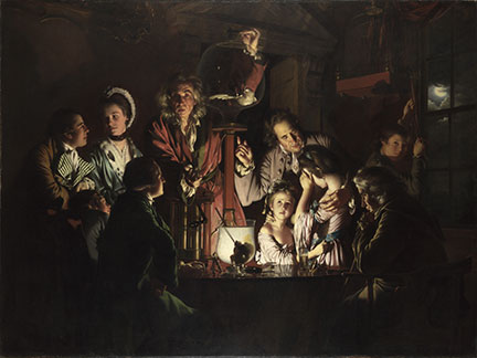 Detail from Joseph Wright 'of Derby', 'An Experiment on a Bird in the Air Pump'