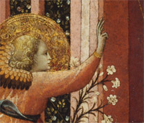 Detail from Master of the Judgement of Paris: 'The Annunciation'.