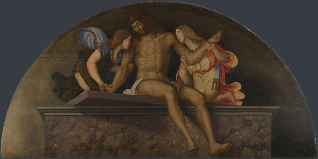 Francesco Zaganelli: 'The Dead Christ with Angels'