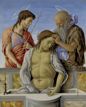 Marco Zoppo: 'The Dead Christ supported by Saints'