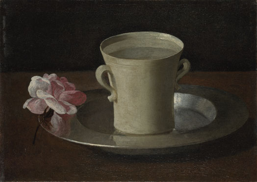 Francisco de Zurbarán: 'A Cup of Water and a Rose'