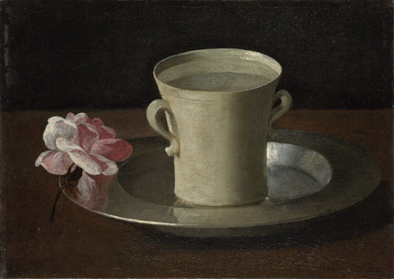 Francisco de Zurbarán, A Cup of Water and a Rose, about 1630