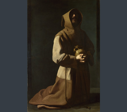 Zurbarán, 'Saint Francis in Meditation', 1635-9