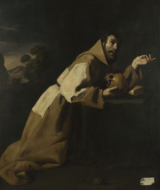 Francisco de Zurbarán: 'Saint Francis in Meditation'